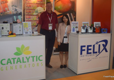 Steve Page is the Vice President of America-based Catalytic Generators, they shared a stand with Felix Instruments.