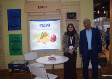 Nancy Muhammad and Muhammad Deghady of Egast from Egyptl. Their main products are citrus and pomegranates.