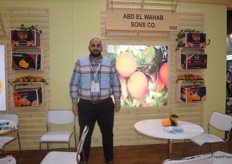 Egyptian company Abd Elwahab Sons was there to showcase their oranges. On the photo is the son Fahd Abdelwahab.