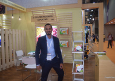 The stand of El Giza, with Business Development Manager Mohamed Elgarhy
