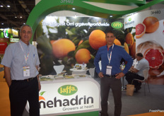 CEO Israel Sandler VP Sales Tomer Ezra of Mehadrin from Israel.
