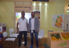 Agro Egypt was promoting their citrus and grapes on the exhibition. On the left is Export Manager Hady Selim and on the right Board Member Ahmed Ghallab.