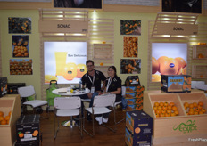 Egyptian citrus exporter Sonac had a pretty big stand this year. The exhibition has gone well for them.