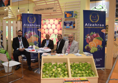 On the second of the left is owner and CEO of Alzahraa, Mahdy Nosair, along with his team. Alzaraah deals mostly in citrus and had an exciting exhibition with quite some traffic.