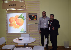 On the left is Mohamed Tahon and on the right is Mahmoud Shabana, both representing Agreen, or Green Egypt for Agricultural Investment. Their stand had the size of three stands and was always full of meetings. They mostly deal in citrus, so the Asian market is huge for them.
