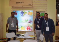 Future Agrico: Talaat El Banna, Mahmoud Hegazy and Mohamed Awaad of Future Agrico. They export grapes, citrus and pomegranates.