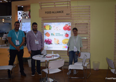 Mohamed Elbialy, Kareem El Saad and Rania Massoud of Food Alliance. They export a variety of vegetables, along with pomegranates from Egypt.