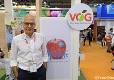 Gerhard Dichgans at VOG booth.