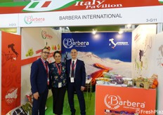 Salvo Messinese, Paola Castro and Francesco Batticane at Barbera booth.