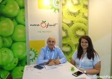 Luca Antonietti and Mara Bucur at Novafruit stand.