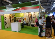 Selimex Srl booth, company specialized on organic f&v