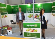 Visitors at Morando booth were received by Christian and Katia Morando.
