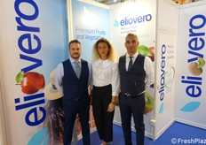Eliovero stand: Ciro Bruno, Camilla Cottini and Enrico D'Este.