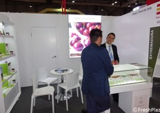 The booth of Campo Tierra de Jerte company