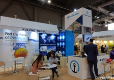 The big booth of Kuehne Nagel company