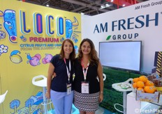 Patricia Sagarminaga and Carolina Palomo of Am Fresh (citrus, fruit, grapes).