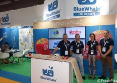 Blue Wale, French company specialized in F&V: Thierry Herisson (Asian export manager), Mark Peyres (sales director), Remi Wendling (export sales executive) and Marguerite Jeanson (Asia trade marketing executive)