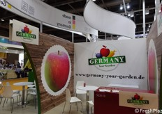 "Booth of ""Germany Your Garden"", specialized in fruit and vegetables"