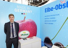 Oliver Stover, sales agent of Elbe-Obst, specialized in apples, pears and berries