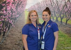 Christina Ripepi and Colleen Dangerfield 'in the orchard' at the VFS Export stand.