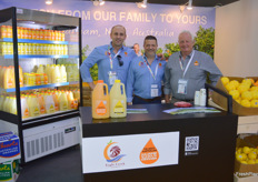 Bill Kurul, Greg Asta and Philip Williamson from Eagle Creek with a tasty new orange juice.