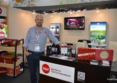 Ben Harris from Bite Riot Australian cherries and a whole variety of cherry products.