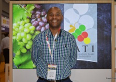 A smiling Clayton Swart from South African Table Grapes.