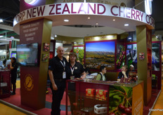 Paul Croft and Pam van der Velden at New Zealand Cherry Corp.