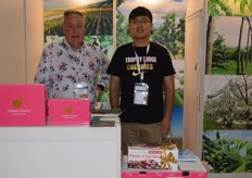 Graeme McMillan and Donald Wang from Trophy Ridge Cherries.