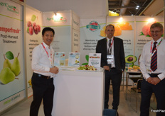 Joseph Leung- Mantrose-Hauser with Alan McGregor and Simon Matthews from Agro Coat Nature Seal.