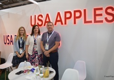 Elizabeth B Carranza, Diane Smith and Todd Sanders from USA Apples