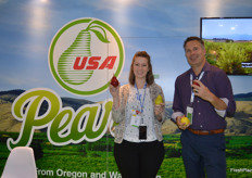 Lynsey Wallace and Jeff Correa from USA Pears.