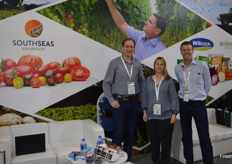 Kelvin Bezuidenhout and Paul Coppock from SoFresh with Nicole Metzger from SouthSeas Export.