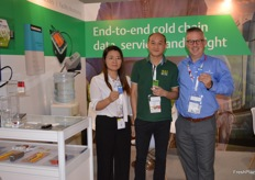 Amanda Zhou, Aeson Chen and Gerd Uitdewilligen at the Emerson stand.