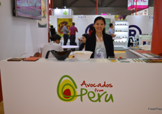 Judy Wu at the Avocados from Peru stand.