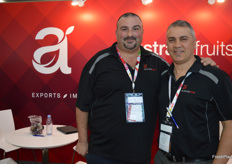 Vince and Joe from Australia Fruits who were part of the Taste Australia stand for the first time.