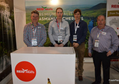 Reid's have doubled their cherry production in the last couple of years and added a new a new packing line. Tony Coad, Nick Featherstone, Charles Thorne and Tim Reid.