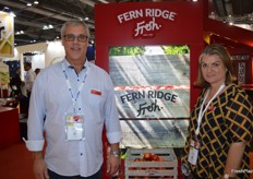 Fern Ridge Fresh have had a busy year and the Chinese market has been very good due to the domestic apple shortage. The Piqa Boo pear has seen a great demand in China, the production is still only at 20% and they are looking at looking at steady growth for it in China. Hamish Davis and Sonya White.