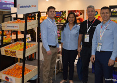 Brett Jackson, Cynthia Tago, Richard Byllaarat and George Haggar at the Nutrano stand.