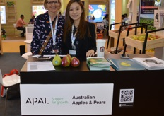 Beth Schofield from APAL with Jennifer Kwong from the Australian Department of Trade and Industry