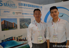 Leon Huang and Tiger from Smart International Logistics Co., Ltd. Providing logistics services to domestic and foreign companies.