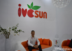 Mr. Wang Haibo, President of Shanghai Ivcsun Industrial Development Co., Ltd. They are a supplier of premium local and imported produce to Chinese consumers, a leading wholesale business, and a professional service provider for local and international suppliers.