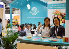 Candy and Laurie from Laiwu Taifeng Foods Co., Ltd. They export ginger, garlic, potatoes, apple and carrots all over the world. Furthermore, they also import grapes, citrus and dragon fruit from Israel, South Africa, Australia and Vietnam.
