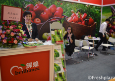 Cindy from Brilliant Century Agriculture Developing (Dalian) Co., Ltd. They sell their products in domestic and foreign markets. Main fruits are, apple, pear, nectarine, frozen strawberry, ginger and garlic.