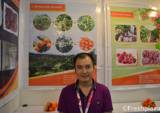 West Hu from JiangXi Green Orchard Fruit Co.,Ltd. They plant, sort, pack and market Nanfeng mandarin, red globe grape for the Chinese market and import a lot of different citrus fruits.
