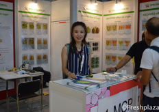 Debby from SPM Biosciences(Beijing) Inc. They research and supply effective, safe and environment friendly agrochemicals to the customers. They supply pre-harvest and post-harvest products.