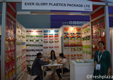 Team of Every Glory Plastics Package Ltd. in a meeting with a client. They are specialized in all kind of packaging, also fresh products.