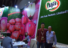 Richard and Steven Leung of Alfa Fruit Packers. Steven works together with his son Richard exporting apples worldwide.