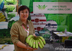 Mrs. Xinyu Fruits Agricultural Corporation. Specialised in importing bananas to the Chinese market.