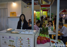 Carrie Kao from RIC International Corp. specializes in the import and export of high-quality fresh fruit, selling different kind of fruits from Taiwan, as pineapple, dragon fruit, mango and guava etc.